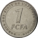 1 Franc 2006, KM# 16, Central African States