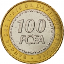 100 Francs 2006, KM# 15, Central Africa BEAC