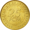 25 Francs 2006, KM# 20, Central African States