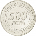 500 Francs 2006, KM# 22, Central African States