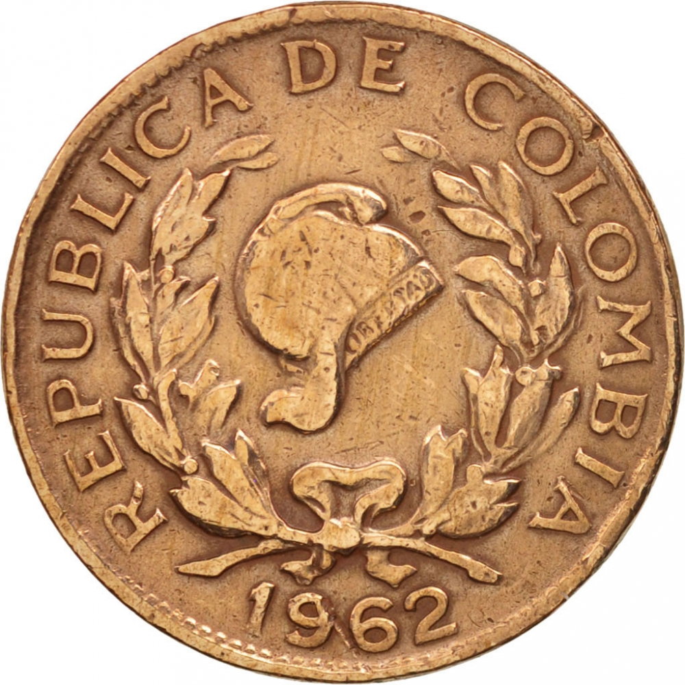 5 Centavos 1942-1966, KM# 206, Colombia