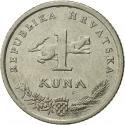 1 Kuna 2004, KM# 79, Croatia, 10th Anniversary of Kuna