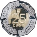 25 Kuna 2017, KM# 112, Croatia, 25th Anniversary of the Accession of Croatia to UN