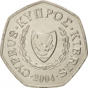 50 Cents 1991-2004, KM# 66, Cyprus