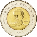 10 Pesos 2005-2016, KM# 106, Dominican Republic