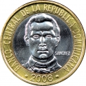 5 Pesos 2002-2010, KM# 89, Dominican Republic