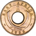 1 Cent 1922-1935, KM# 22, East Africa, George V