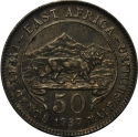 50 Cents 1937-1944, KM# 27, East Africa, George VI