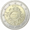 2 Euro 2012, KM# 70, Estonia, 10th Anniversary of Euro Coins and Banknotes