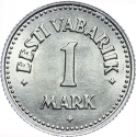 1 Mark 1924, KM# 1a, Estonia