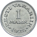 1 Mark 1926, KM# 5, Estonia