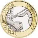 5 Euro 2016, KM# 238, Finland, Republic, Sports, Athletics