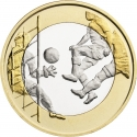 5 Euro 2016, KM# 246, Finland, Republic, Sports, Football