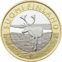 5 Euro 2015, KM# 224, Finland, Republic, Animals of the Provinces, Lapland's Reindeer