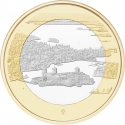 5 Euro 2018, Finland, Republic, Finnish National Landscapes, Olavinlinna Castle and Lake Pihlajavesi