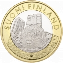 5 Euro 2015, KM# 239, Finland, Republic, Animals of the Provinces, Uusimaa's Hedgehog