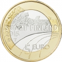 5 Euro 2015, KM# 237, Finland, Republic, Sports, Basketball