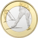 5 Euro 2016, KM# 244, Finland, Republic, Sports, Cross-Country Skiing