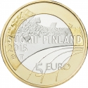 5 Euro 2015, KM# 235, Finland, Republic, Sports, Figure Skating