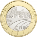 5 Euro 2016, KM# 243, Finland, Republic, Sports, Ice Hockey