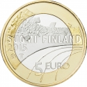 5 Euro 2015, KM# 234, Finland, Republic, Sports, Volleyball