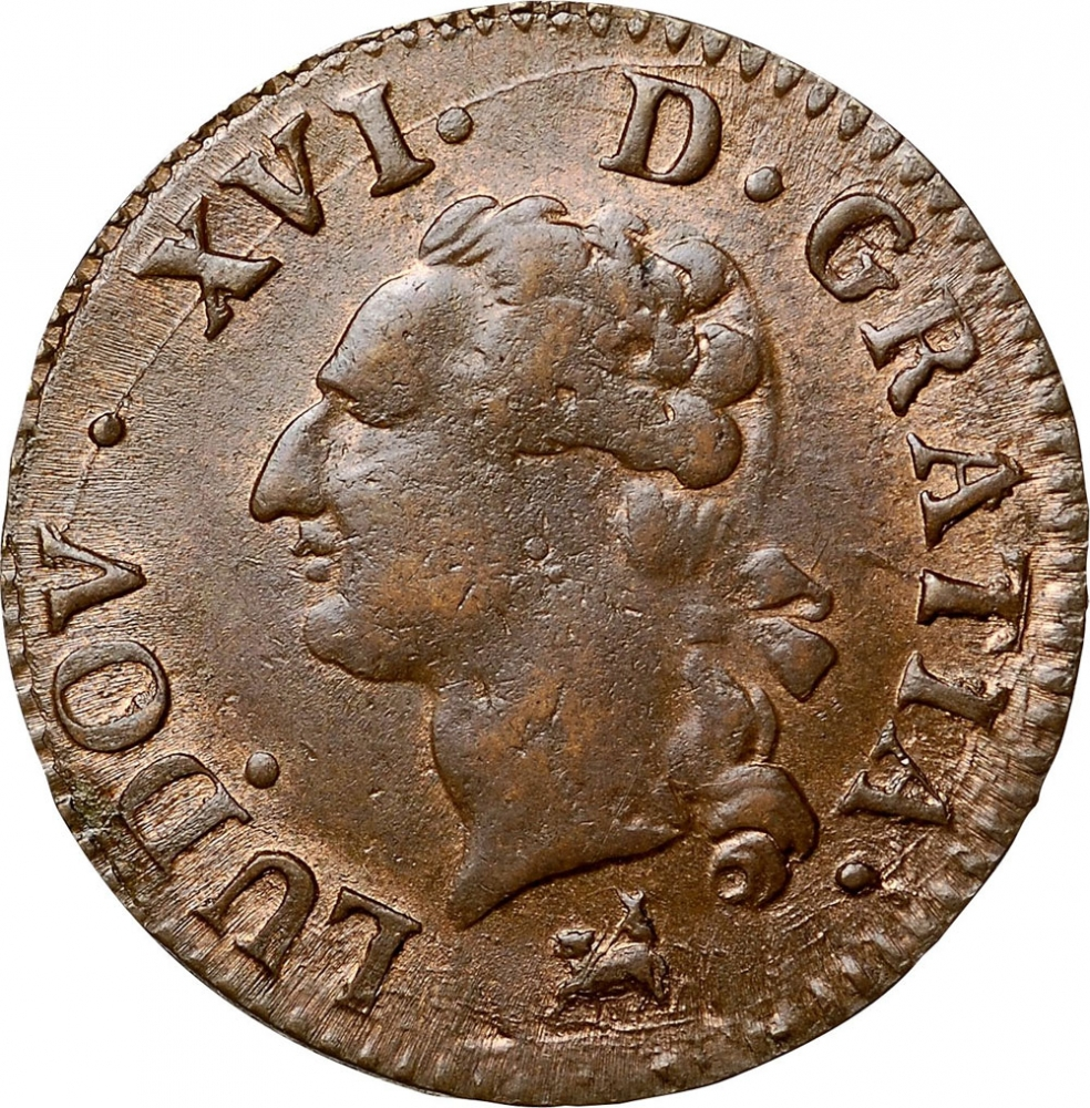 1 Liard 1777-1792, KM# 585, France, Kingdom, Louis XVI