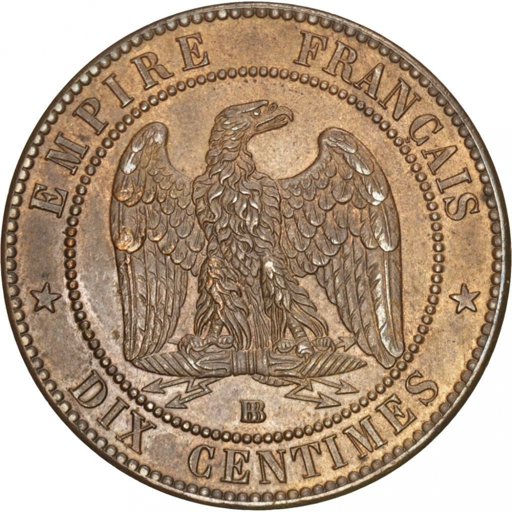 10 Centimes 1861-1865, KM# 798, France, Napoleon III