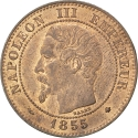2 Centimes 1853-1857, KM# 776, France, Napoleon III