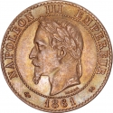 2 Centimes 1861-1862, KM# 796, France, Napoleon III