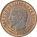 5 Centimes 1853-1857, KM# 777, France, Napoleon III