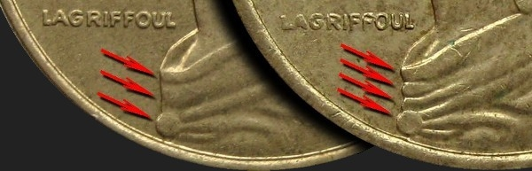 5 Centimes 1966-2001, KM# 933, France, 3 or 4 folds