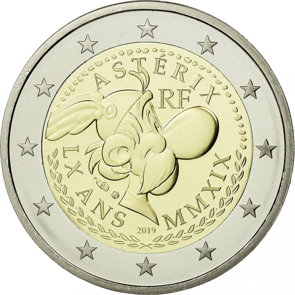 2 Euro 2019, France, 60th Anniversary of Asterix