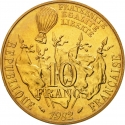 10 Francs 1982, KM# 950, France, 100th Anniversary of Death of Léon Gambetta