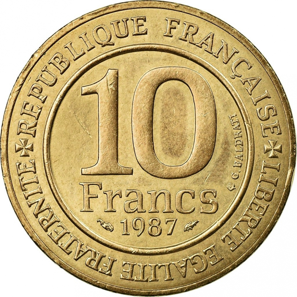 10 Francs 1987, KM# 961d, France, 1000th Anniversary of the Election of Hugh Capet