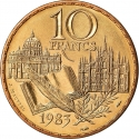 10 Francs 1983, KM# 953, France, 200th Anniversary of the Brirth of Stendhal