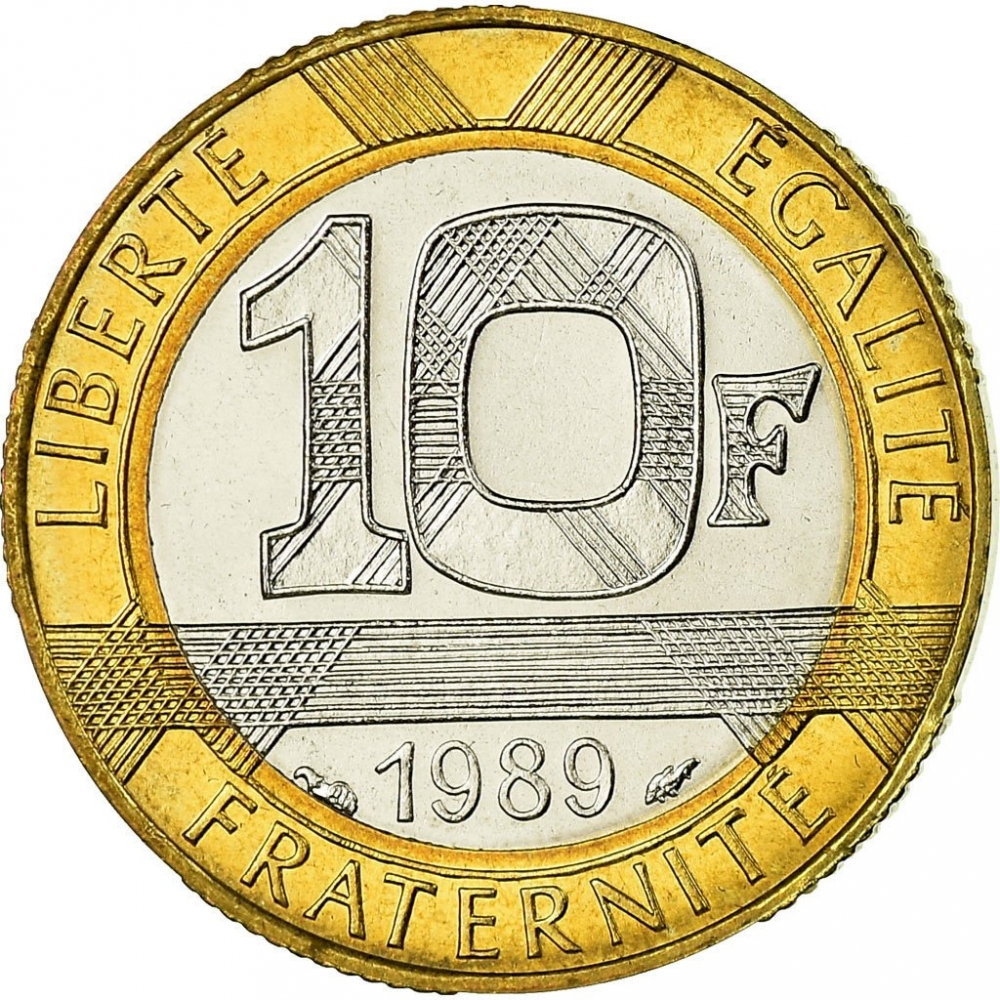 10 Francs 1989, KM# 969, France, 300th Anniversary of Birth of Montesquieu