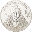 10 Francs 1997, KM# 1298, France, European Museums Treasures, Albrecht Dürer's Self-Portrait