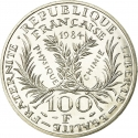 100 Francs 1984, KM# 955, France, 50th Anniversary of Death of Marie Curie