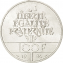 100 Francs 1986, KM# 960, France, 100th Anniversary of the Statue of Liberty