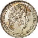 2 Francs 1831-1848, KM# 743, France, Louis Philippe I