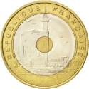20 Francs 1993, KM# 1016, France, Languedoc-Roussillon 1993 Mediterranean Games, Tower of Constance