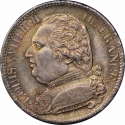 5 Francs 1814-1815, KM# 702, France, Louis XVIII