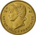 25 Francs 1956, KM# 7, French West Africa