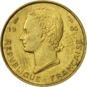 5 Francs 1956, KM# 5, French West Africa
