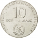10 Mark 1975, KM# 58, Germany, Democratic Republic (DDR), 20th Anniversary of the Warsaw Pact