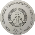 20 Mark 1974, KM# 53, Germany, Democratic Republic (DDR), 250th Anniversary of Birth of Immanuel Kant