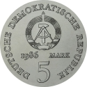 5 Mark 1986, KM# 112, Germany, Democratic Republic (DDR), 175th Anniversary of Death of Heinrich von Kleist