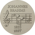 5 Mark 1972, KM# 36, Germany, Democratic Republic (DDR), 75th Anniversary of Death of Johannes Brahms