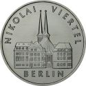 5 Mark 1987, KM# 114, Germany, Democratic Republic (DDR), 750th Anniversary of Berlin, Nikolaiviertel