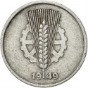 5 Pfennig 1948-1950, KM# 2, Germany, Democratic Republic (DDR)